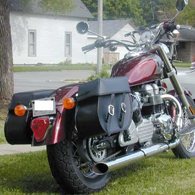 Janet's Triumph America w/ Motorcycle Leather Saddlebags