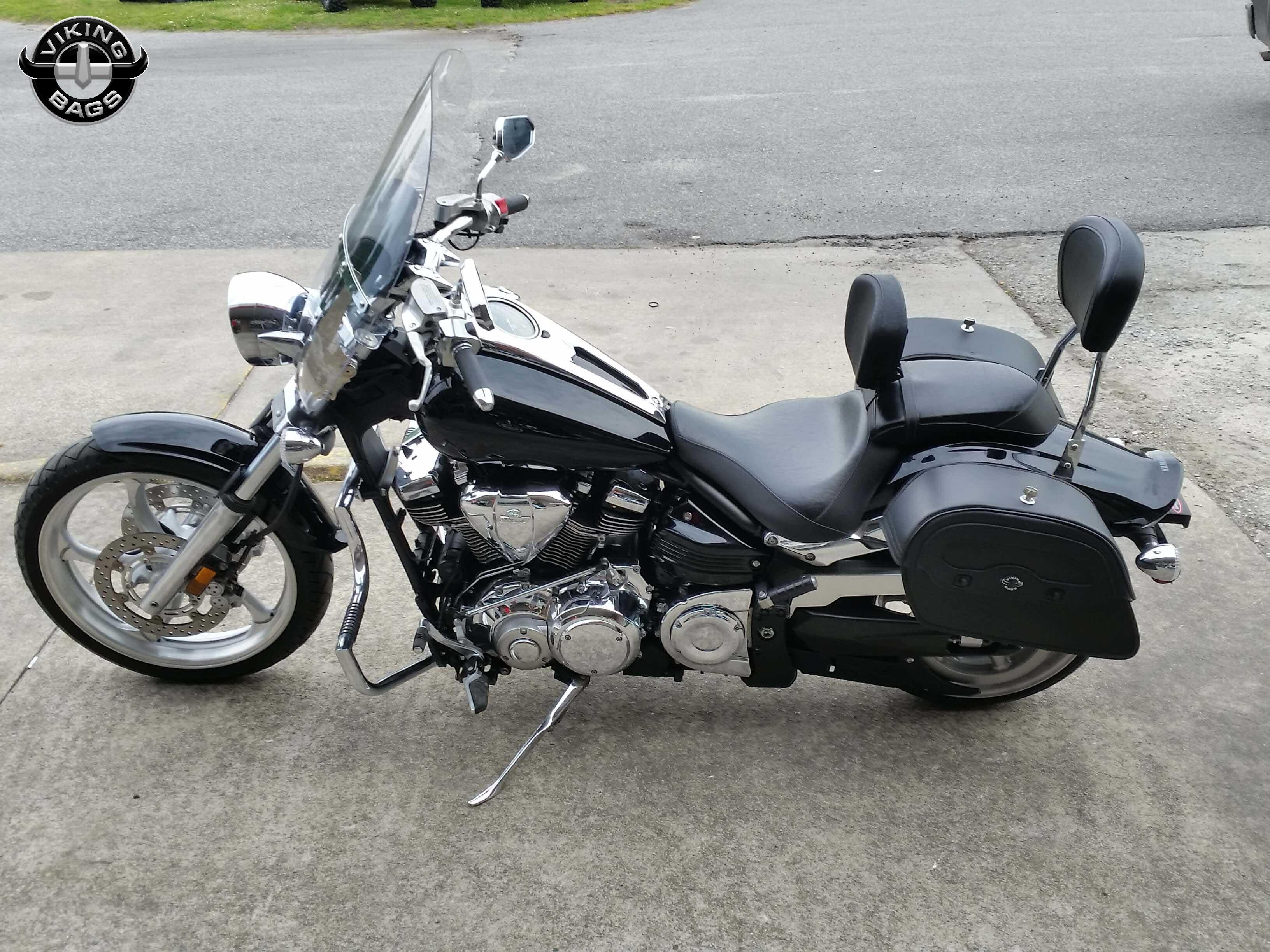 Yamaha raider motorcycle saddlebags warrior leather from for Yamaha raider hard saddlebags