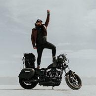 Guzman's '16 Harley-Davidson Sportster 48 w/ Lamellar Hard Series Motorcycle Saddlebags