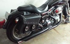 Jeff's Harley-Davidson Dyna w/ Studded Leather Motorcycle Saddlebags