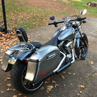Jeff's '14 Harley-Davidson Softail Breakout w/ Lamellar Hard Saddlebags