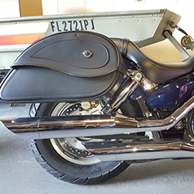 Jeffrey's Honda VTX 13100 C w/ Leather Motorcycle Saddlebags