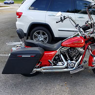 Jim's Harley-Davidson Road king w/ Lamellar Hard Touring Saddlebags
