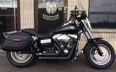 Jimmele's Harley-Davidson Dyna Fat Bob w/ Lamellar Hard Series Motorcycle Saddlebags