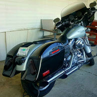 Johnny's Harley-Davidson Dyna Super Glide w/ Lamellar Hard Saddlebags