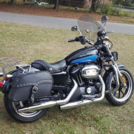 Karl's Harley-Davidson Sportster 883 Super Low w/ Charger Series Saddlebags