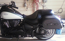 Ted Banadyga's '15 Kawasaki w/ Warrior Motorcycle Saddlebags
