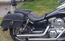 Larry Jannotti's 2003 Kawasaki Classic w/ Single Strap Studded Motorcycle Saddlebags