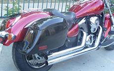 Kawasaki w/ Lamellar Motorcycle Saddlebags