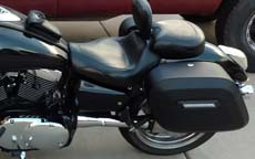 Kendal's '04 Kawasaki Mean Streak 1600 w/ Hard Motorcycle Saddlebags