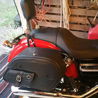 Larry's Harley-Davidson Dyna Super Glide w/ Side Pocket Leather Motorcycle Saddlebags