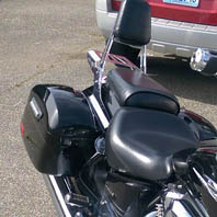 Les '03 Honda VTX 1800 w/ Lamellar Series Hard Saddlebags