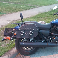 lucinda's-2016harleystreet500-Customer-Motorcycle-Saddlebag-photo