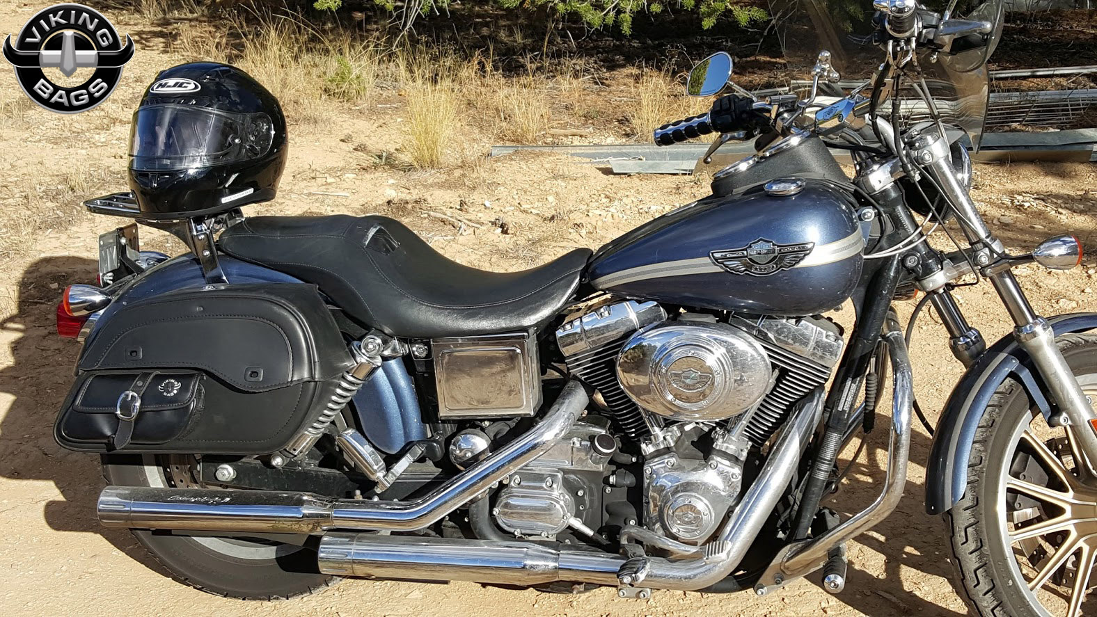Harley davidson dyna low rider motorcycle saddlebags for Motor cycle saddle bags