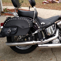 Matthew's Harley-Davidson Softail Heritage w/ Side Pocked Studded Motorcycle Saddlebags