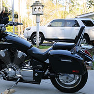 Mike's '03 Honda VTX 1800c w/ Lamellar Hard Saddlebags