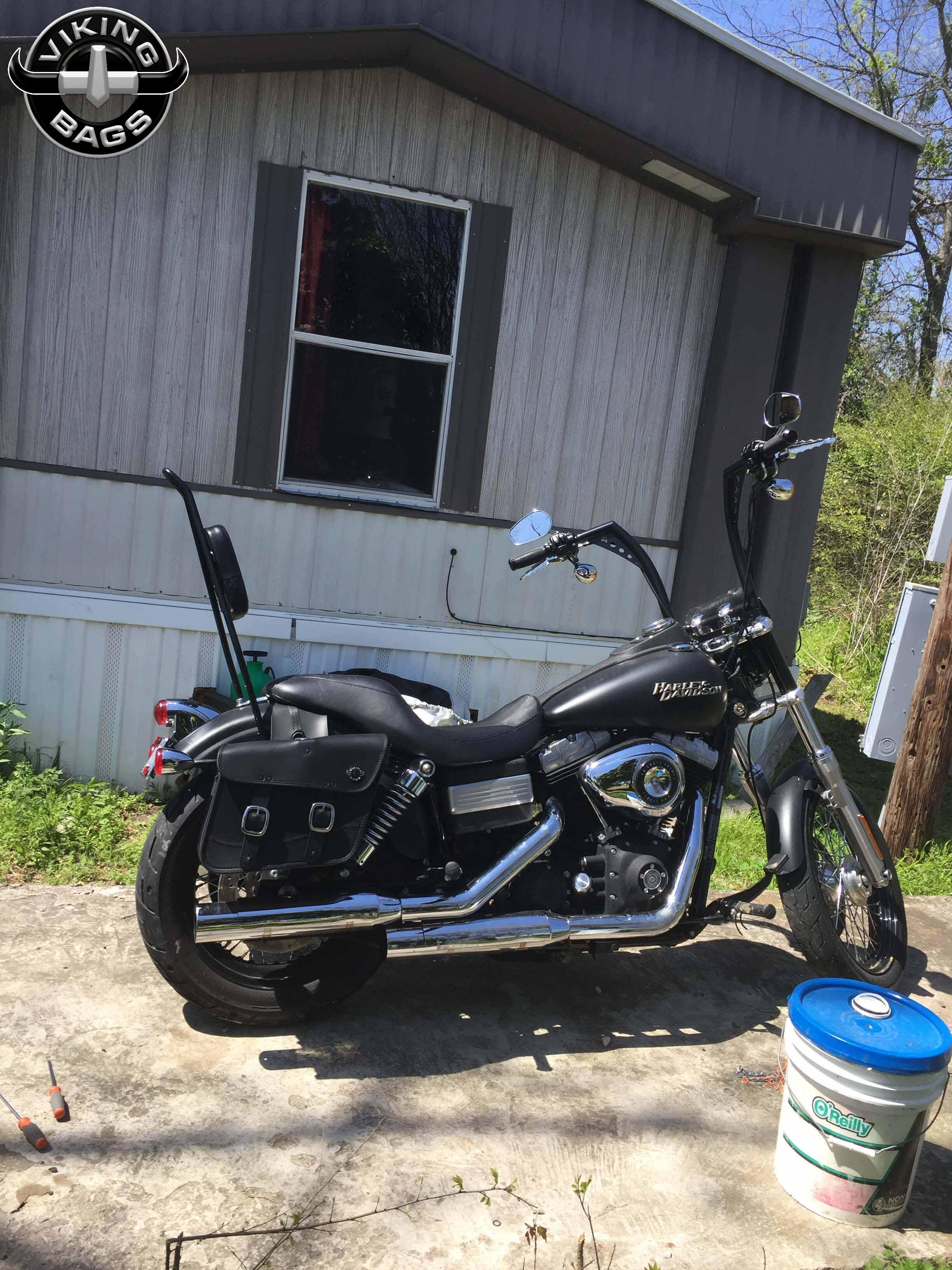 Harley Dyna Street Bob Thor Series Small Leather Saddlebags Motorcycle House Australia