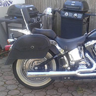 Mike's '02 Harley-Davidson Fat Boy w/ Warrior Motorcycle Saddlebags