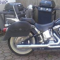 Mike's '02 Harley-Davidson Fat Boy w/ Warrior Motorcycle Saddlebags