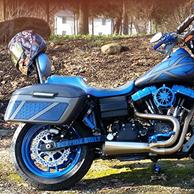Nakoa's '12 Harley-Davidson Dyna Street Bob w/ Lamellar Series Hard Motorcycle Saddlebags
