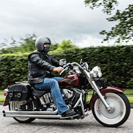 Niall's '01 Harley-Davidson Softail Fat Boy w/ Charger Series Saddlebags