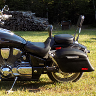Paul's Honda VTX 1800 F w/ Lamellar Hard Saddlebags