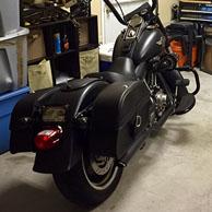 Rambo's '14 Harley-Davidson Softail Fat Boy Lo w/ Charger Series Saddlebags