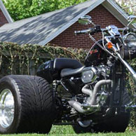 Sammy's '02 Harley-Davidson Sportster 1200C Chopper Trike w/ Leather Tool Bag