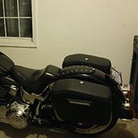 Sarah's Harley-Davidson Softail Deluxe w/ Lamellar Hard Saddlebags