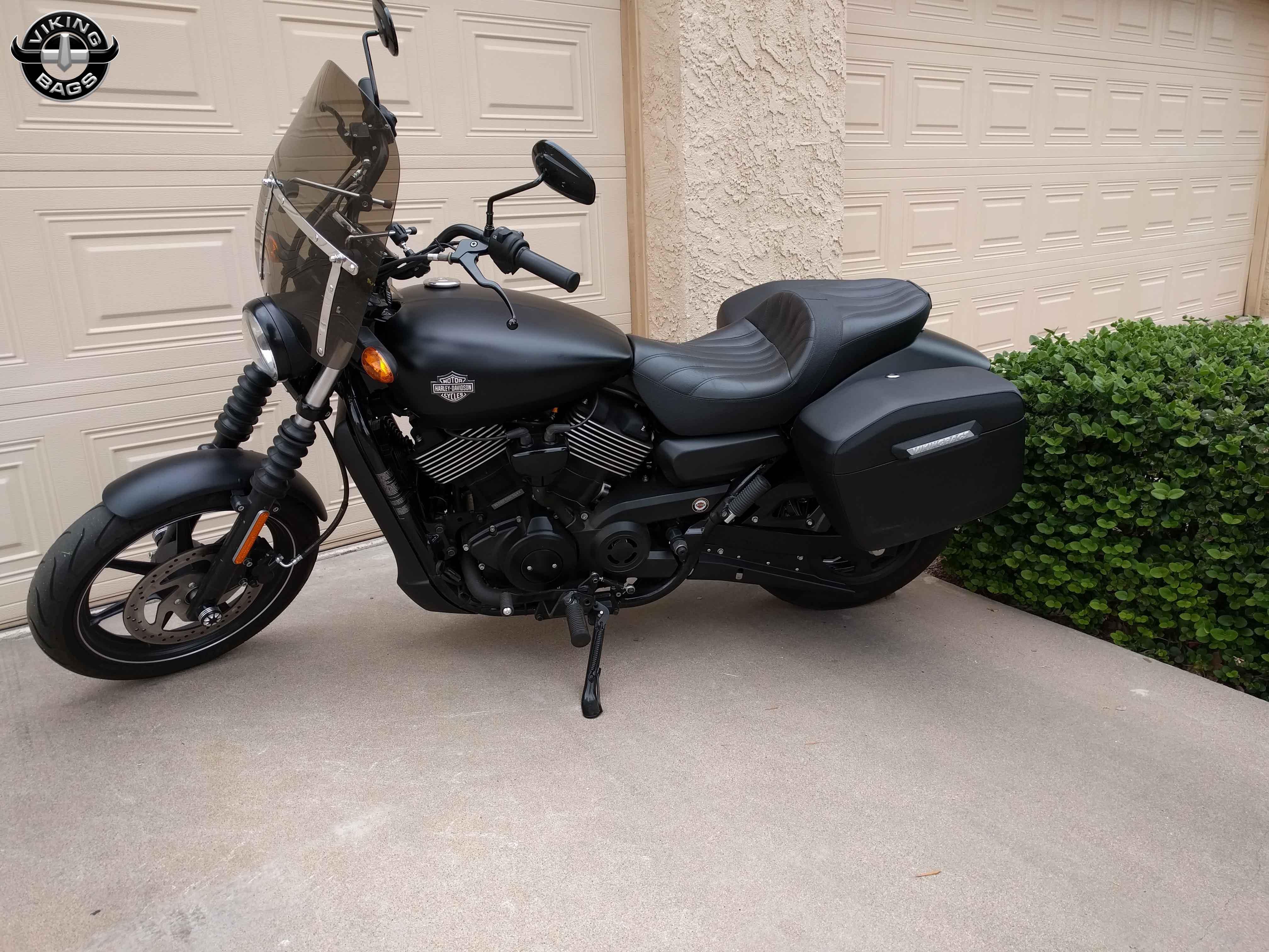 Harley Davidson Street Motorcycle Luggage Customer Photo Gallery 2015 Tour Pack Seanroe 2015hdstreet750 Saddlebags