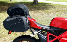 Ducati 848 w/ AXE Series Sport Bike Saddlebags