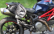 Ducati Monster w/ Viking Dirtman Enduro Saddlebags