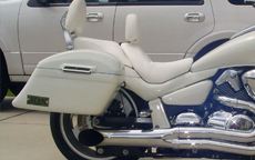 Jon's '07 Suzuki Boulevard M 109 R w/ Custom-Painted Hard Motorcycle Saddlebags