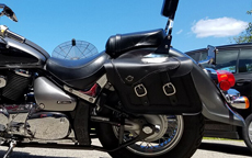 Alex's Suzuki Boulevard C 90 w/ Charger Braided Saddlebags
