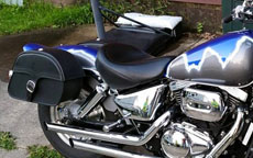 Steve's '01 Suzuki Marauder VZ800 w/ Charger Single Strap Saddlebags