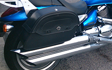 Bryant Sims Warrior Motorcycle Suzuki Saddlebags