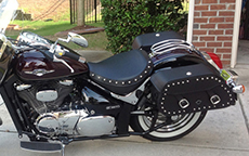 Leon Winkler's Yamaha Road Star w/ Pinnacle Studded Motorcycle Bags
