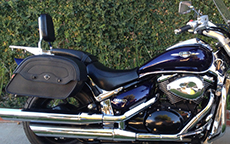 Lonnie Pennington's Warrior Motorcycle Suzuki Saddlebags