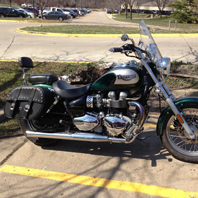 Triumph w/ Charger Studded Leather Saddlebags