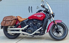 Tom's '16 Indian Scout Sixty w/ Leather Motorcycle Saddlebags