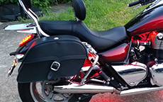 Triumph Thunderbird from Dallas, Texas area w/ Charger Single Strap Motorcycle Saddlebags