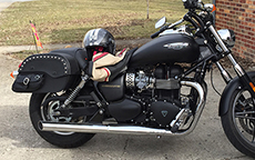 Stephanie Paules' '13 Triumph Speedmaster w/ Side Pocket Motorcycle Bags