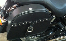 Mark West's 2013 Triumph America w/ Charger Studded Motorcycle Bags