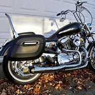 Wagner's Harley-Davidson Sportster 1200 Custom w/ Lamellar Hard Saddlebag