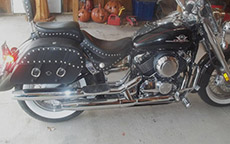 Tony Pockets Hericks' Yamaha w/ Charger Studded Motorcycle Saddlebags