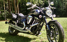 Randy Creighton's Yamaha Warrior w/ Prima Motorcycle Saddlebags