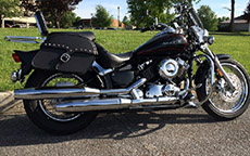 Lance Wilson's Yamaha w/ Single Strap Studded Motorcycle Saddlebags