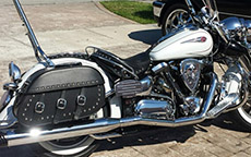 Darrell Edwy's Yamaha Midnight w/ Trianon Studded Motorcycle Saddlebags