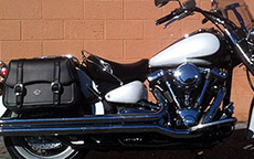 David Moore's  Road Star S Midnight w/ Charger Straight Motorcycle Yamaha Saddlebags