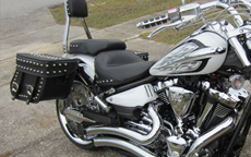 Randy's '13 Yamaha Raider w/ Concord Studded Motorcycle Saddlebags